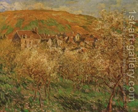 Blooming apple trees by Claude Oscar Monet - Reproduction Oil Painting