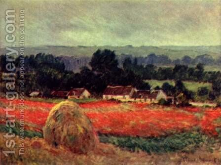 The Poppy Field (The barn) by Claude Oscar Monet - Reproduction Oil Painting