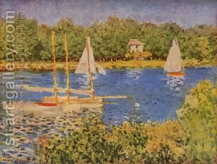 Parliament in the Seine at Argenteuil Basin by Claude Oscar Monet - Reproduction Oil Painting
