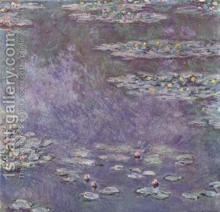 Water-Lily Pond 2 by Claude Oscar Monet - Reproduction Oil Painting
