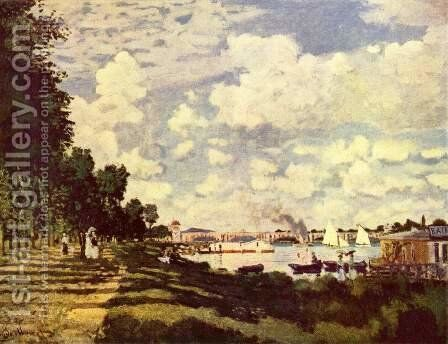 The marina at Argenteuil 2 by Claude Oscar Monet - Reproduction Oil Painting