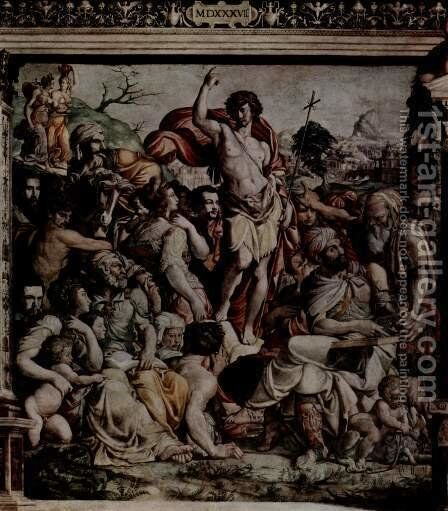 Preaching of John the Baptist by Jacopino del Conte - Reproduction Oil Painting