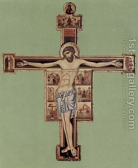 Crucifixion by Coppo Di Marcovaldo - Reproduction Oil Painting