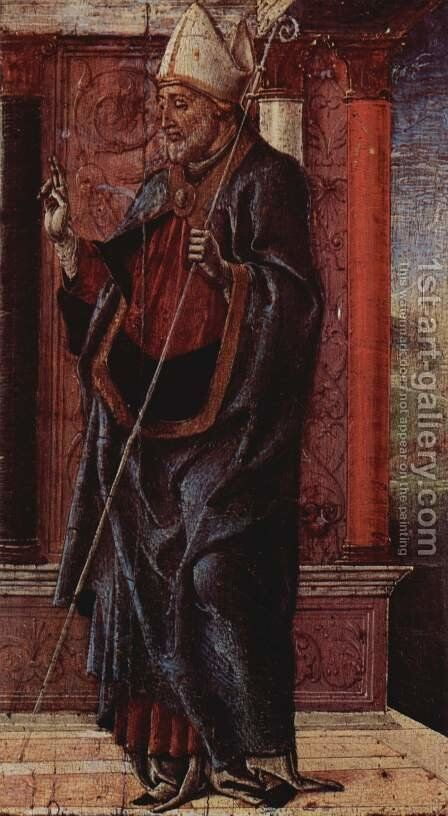 St. Aurelius of Ferrara by Cosme Tura - Reproduction Oil Painting
