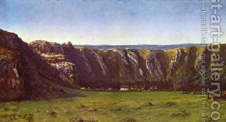 La roche de dix heures by Gustave Courbet - Reproduction Oil Painting