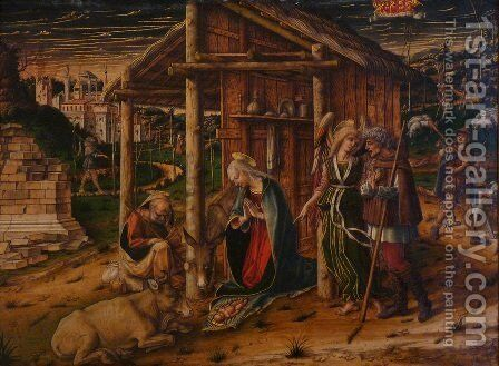 Adoration of the Shepherds by Carlo Crivelli - Reproduction Oil Painting