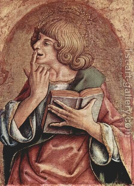 St. John the Evangelist Italiano San Giovanni Evangelista. by Carlo Crivelli - Reproduction Oil Painting