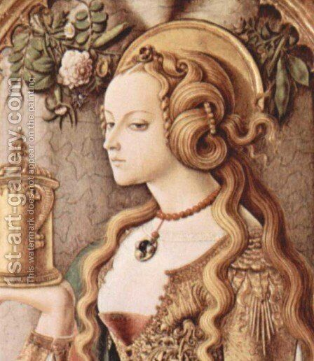 St. Mary Magdalene by Carlo Crivelli - Reproduction Oil Painting