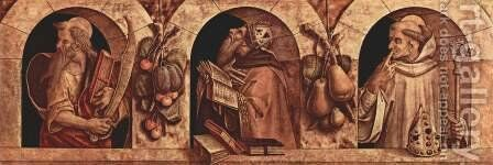 St. Paul, St. John Chrysostom and St. Basil by Carlo Crivelli - Reproduction Oil Painting