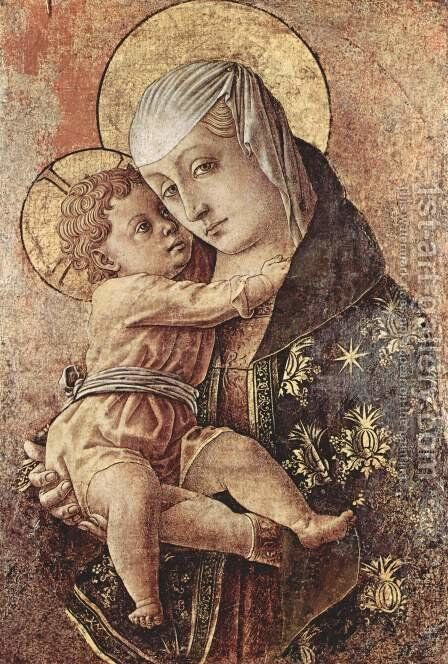 Madonna, fragment of an altar in the Chiesa degli Osservanti in Macerata by Carlo Crivelli - Reproduction Oil Painting