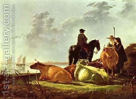 Pasture by Aelbert Cuyp - Reproduction Oil Painting