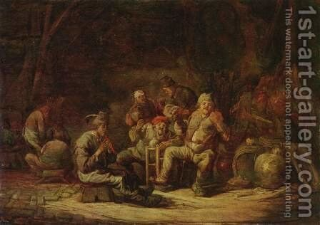 Farmers in the pub by Benjamin Gerritsz. Cuyp - Reproduction Oil Painting