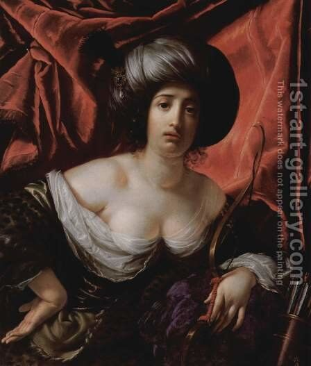 Portrait of a lady as Diana by Cesare Dandini - Reproduction Oil Painting