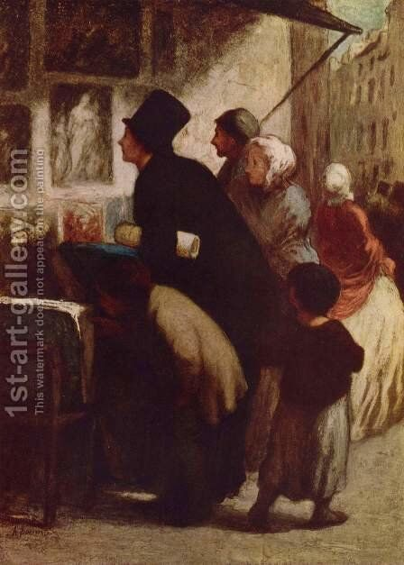 The engraving dealer by Honoré Daumier - Reproduction Oil Painting