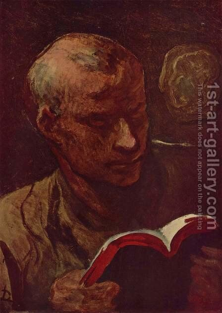 The reader by Honoré Daumier - Reproduction Oil Painting