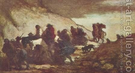 The refugees by Honoré Daumier - Reproduction Oil Painting