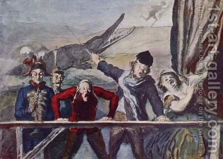The idea by Honoré Daumier - Reproduction Oil Painting