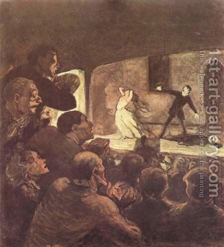 Melodrama by Honoré Daumier - Reproduction Oil Painting