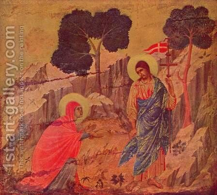 Christ appears Magdalena by Duccio Di Buoninsegna - Reproduction Oil Painting