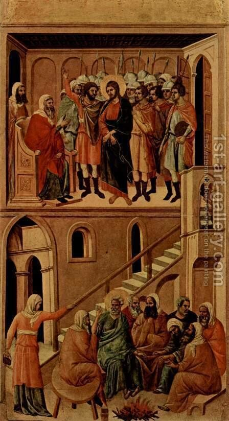 Christ before Annas and Peter Denying Jesus by Duccio Di Buoninsegna - Reproduction Oil Painting