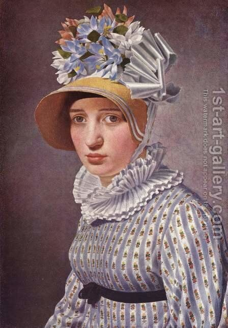 Portrait of Anna Maria Magnani by Christoffer Wilhelm Eckersberg - Reproduction Oil Painting