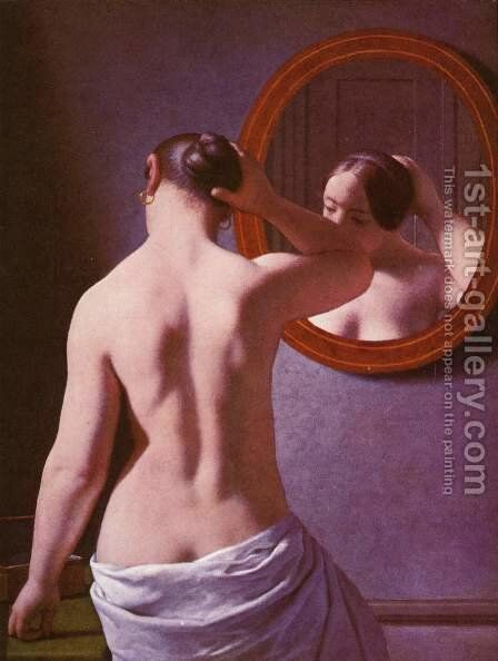Back act (morning toilet) by Christoffer Wilhelm Eckersberg - Reproduction Oil Painting