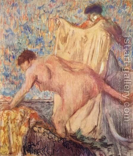 Exit from the bathtub by Edgar Degas - Reproduction Oil Painting