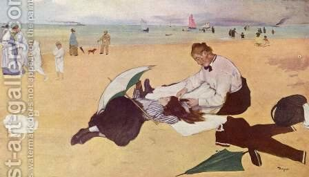 Little girl is combed on the beach by Edgar Degas - Reproduction Oil Painting