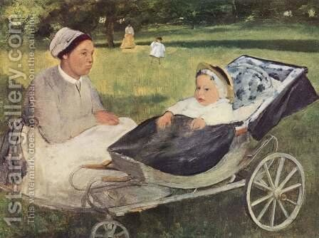Portrait of Henri Valpincon governess as a child by Edgar Degas - Reproduction Oil Painting