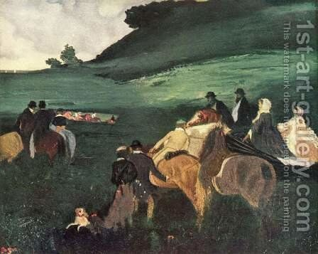 Riders in a Landscape by Edgar Degas - Reproduction Oil Painting