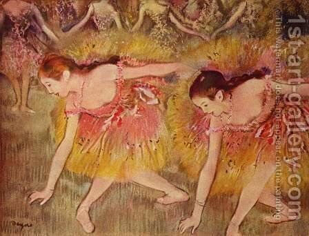 Bowing dancers by Edgar Degas - Reproduction Oil Painting