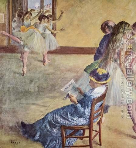 During the dance classes at madame Cardinal by Edgar Degas - Reproduction Oil Painting