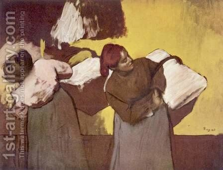Two women washing by Edgar Degas - Reproduction Oil Painting