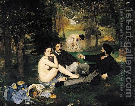 The Luncheon on the Grass by Edouard Manet - Reproduction Oil Painting