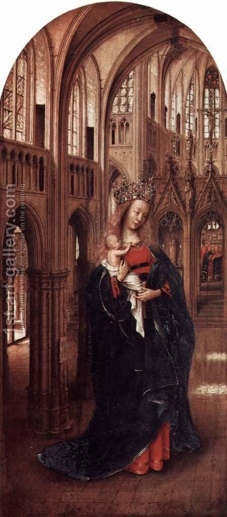 The Virgin in the Church by Jan Van Eyck - Reproduction Oil Painting