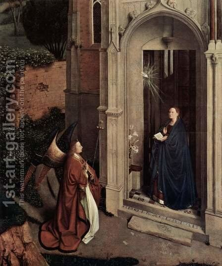 Annunciation 3 by Jan Van Eyck - Reproduction Oil Painting
