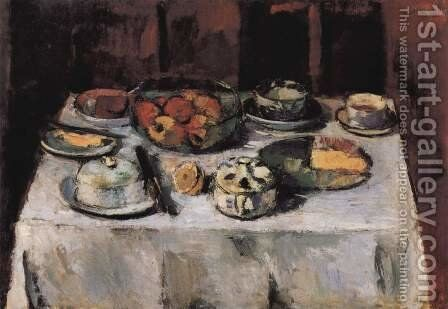 Set table, still life by Anton Faistauer - Reproduction Oil Painting
