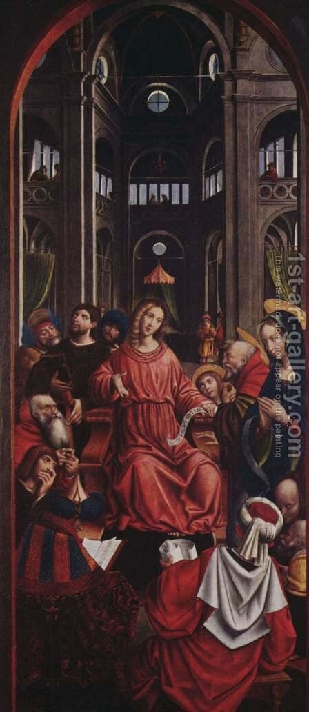 Twelve-years-old Christ in the Temple by Defendente Ferrari - Reproduction Oil Painting