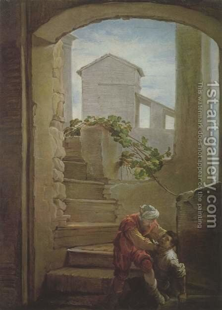 Parable of the wicked servant by Domenico Fetti - Reproduction Oil Painting