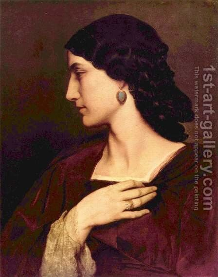 Nanna 2 by Anselm Friedrich Feuerbach - Reproduction Oil Painting