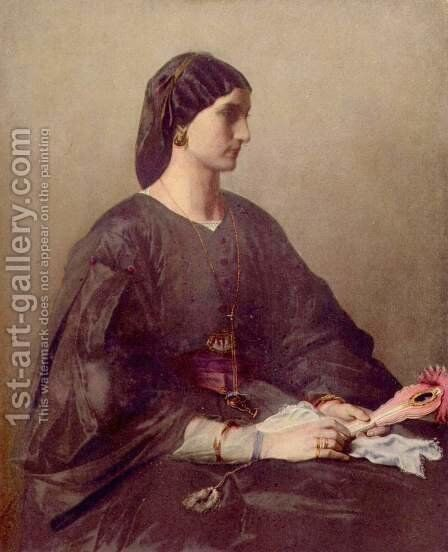 Portrait of a woman by Anselm Friedrich Feuerbach - Reproduction Oil Painting