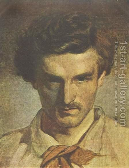 Self portrait 2 by Anselm Friedrich Feuerbach - Reproduction Oil Painting