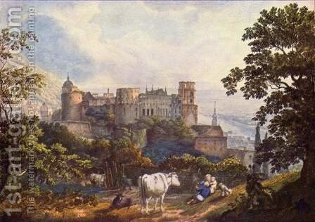 Heidelberg Castle by Carl Philipp Fohr - Reproduction Oil Painting