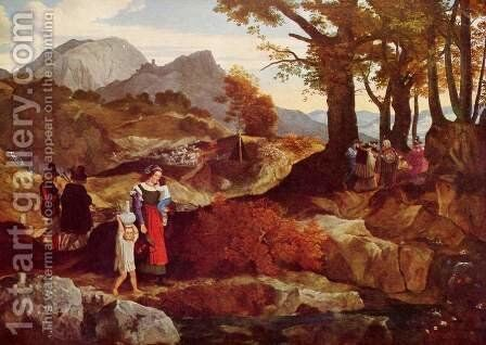 Romantic Landscape in Italy by Carl Philipp Fohr - Reproduction Oil Painting