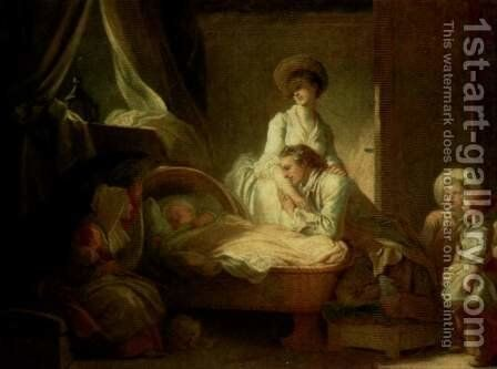 Visit to the nurse by Jean-Honore Fragonard - Reproduction Oil Painting