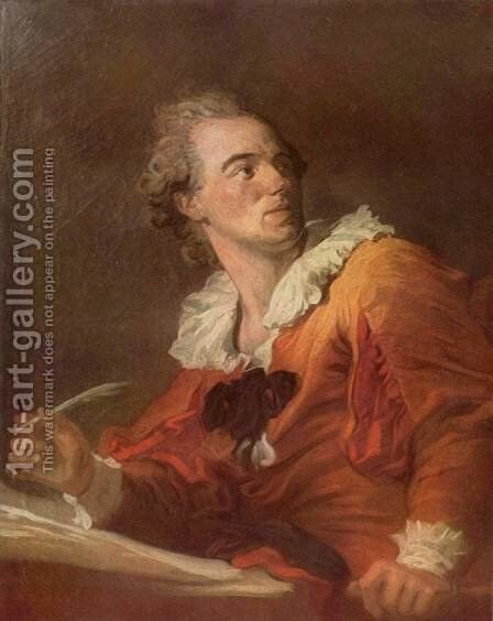 The poet by Jean-Honore Fragonard - Reproduction Oil Painting