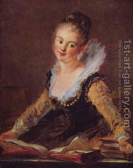 The Reader by Jean-Honore Fragonard - Reproduction Oil Painting