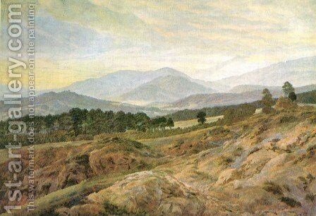 Giant mountains 2 by Caspar David Friedrich - Reproduction Oil Painting
