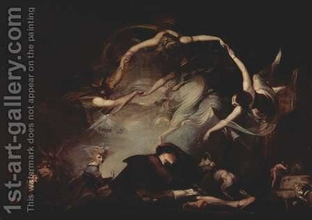 The dream of the shepherd by Johann Heinrich Fussli - Reproduction Oil Painting