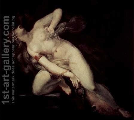 The sin, followed by death by Johann Heinrich Fussli - Reproduction Oil Painting